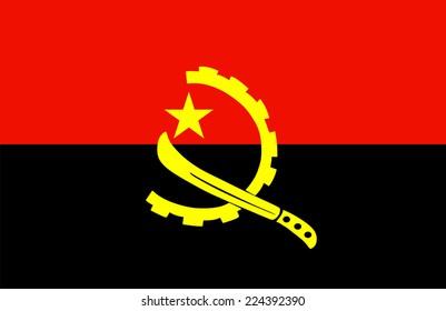 Angola flag vector.