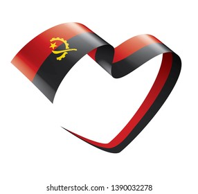 Angola flag, vector illustration on a white background