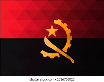 Angola Flag vector illustration.Angola Flag. National Flag of Angola.