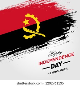 Angola Independence day design for posters, banners, flyers, flag, cards, cover, ribbon, template and background.