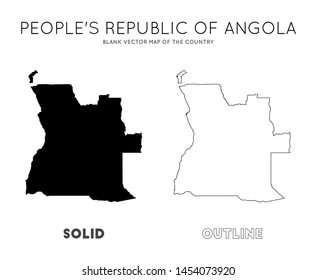 Angola map. Blank vector map of the Country. Borders of Angola for your infographic. Vector illustration.