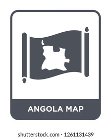 angola map icon vector on white background, angola map trendy filled icons from Countrymaps collection, angola map simple element illustration
