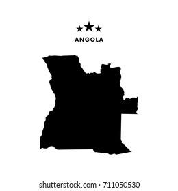 Angola map. Vector illustration.