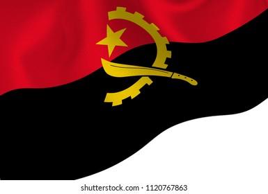 Angola national flag background