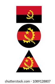 angola state flag. country flags. Angola flag vector. Flag of Angola with name illustration. Official colors and proportion correctly flag of country Angola. Premium quality graphic design of national