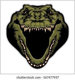 Angry Alligator Vector Mascot