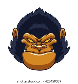 angry ape gorilla face