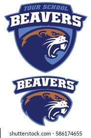 Angry Beaver mascot head
