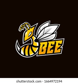 Angry bee esport mascot logo design vector illustration
