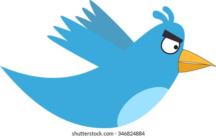 Blue Angry Bird Images, Stock Photos & Vectors | Shutterstock