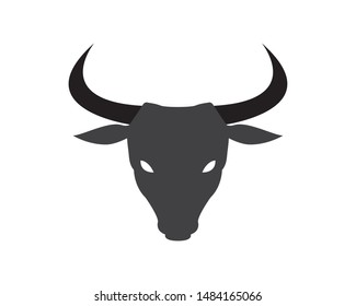 Angry Bull or Cow Head Silhouette