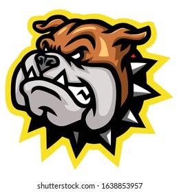 Angry Bulldog Head Mascot Logo Design
