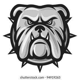 angry bulldog head vector illustration
