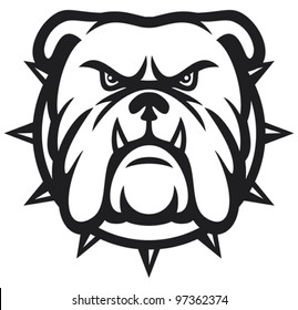 angry bulldog head vector illustration