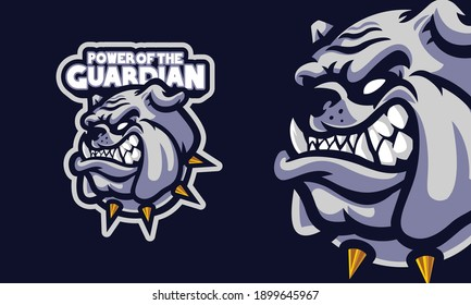 angry bulldog sports logo mascot vector illustration