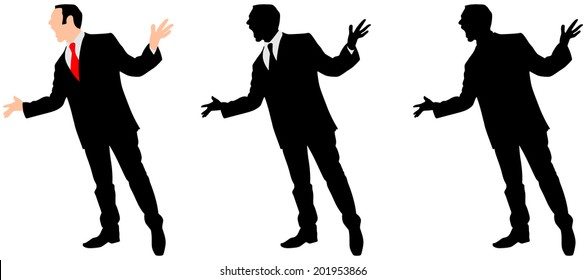 angry Businessman, vector
