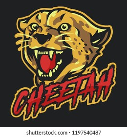 Angry Cheetah Esport Mascot Logo