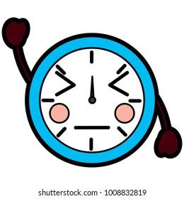 angry clock kawaii icon image