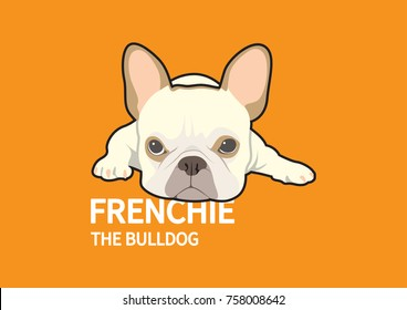 Angry Cute French Bulldog Logo