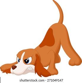 Angry dog cartoon