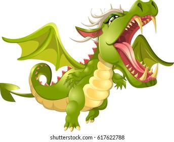 angry dragon cartoon