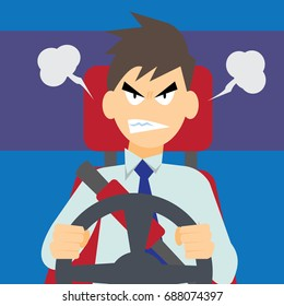 Angry driver-vector cartoon