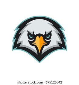 angry eagle head mascot. modern professional sport logo. vector illustration