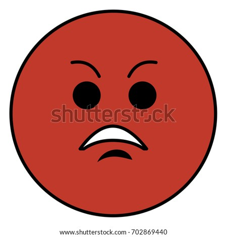 Angry Emoticon Face Character Icon Stock Vector (Royalty