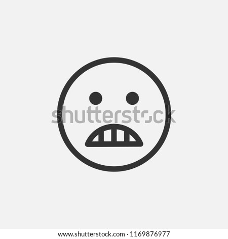Angry Face Emoji Vector Icon Emotion Stock Vector Royalty Free