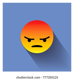 Angry face. Angry icon.Triste emotion.Vector illustration.