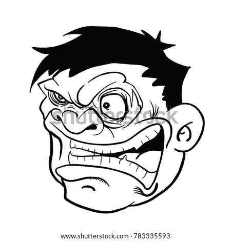 Angry Fat Man Cartoon Illustration Isolated Stock Vector Royalty
