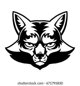 Angry Fox Head Mascot Logo