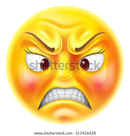 410b7b82ab1 Angry Furious Looking Red Faced Emoticon Stock Vector (Royalty Free ...