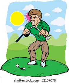 Angry Golfer Images Stock Photos Vectors Shutterstock