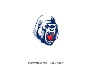 Angry Gorilla is attacking