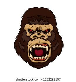Angry gorilla kong beast