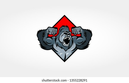 Angry Gorilla Logo Illustration