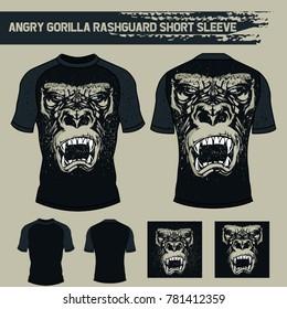 Angry Gorilla Rashguard Short Sleeve