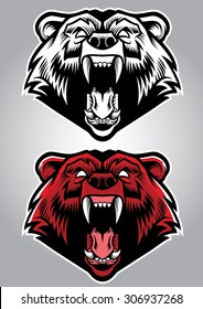 angry grizzly bear mascot