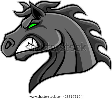 Angry Horse Head Mascot Vector Illustration Stock Vector ...