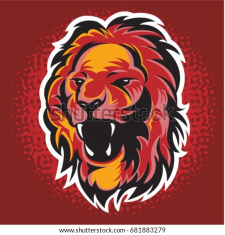 angry lion face vector stock vector royalty free 681883279