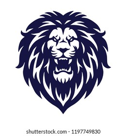 Angry Lion Head Vector Logo Icon Sports Mascot