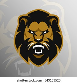 Angry Lion logo, symbol.
