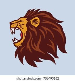 Angry Lion Mascot Vector Logo