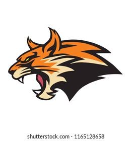 Angry Lynx Wildcat Logo Mascot Vector Illustration