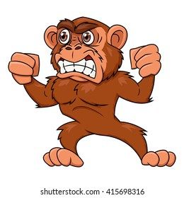 Clipart Animals Gorilla - Scared Animals Cartoon ...  |Scared Monkey Animation