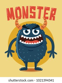 Angry Monster with Horns