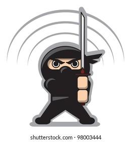 Angry Ninja with the Sword