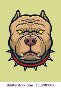 Angry Pitbull Dog