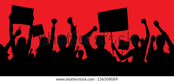 Angry protesters